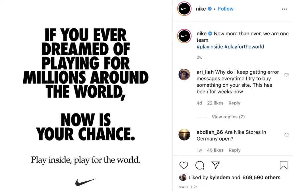 Nike digital campaign