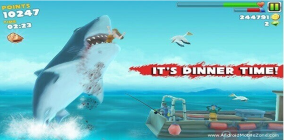features of hungry shark evolution