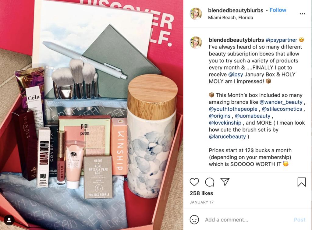 beauty subscription boxes