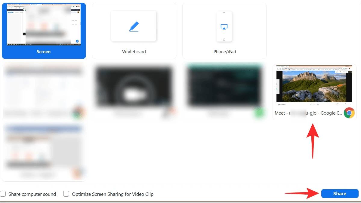Google meet tab