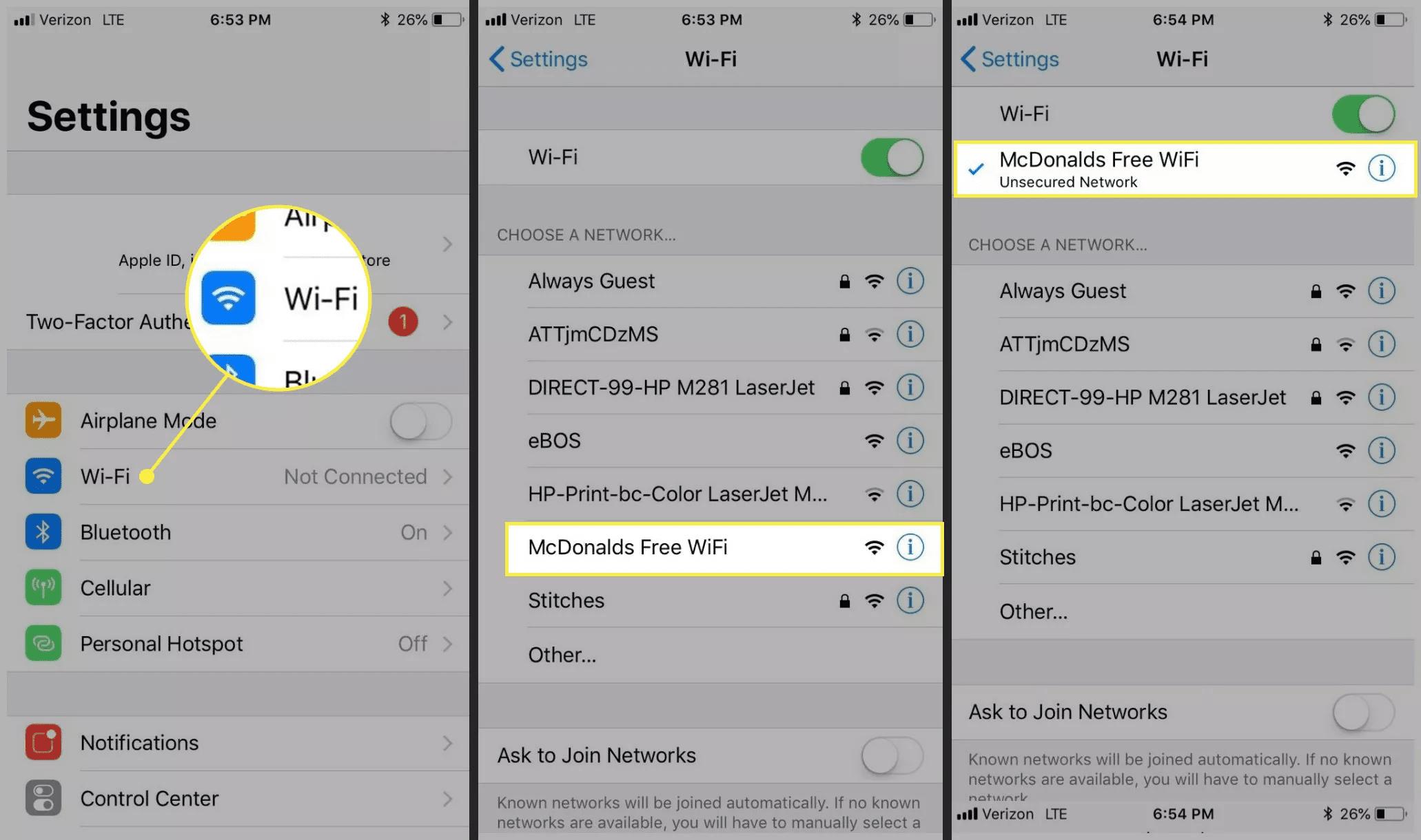 McDonald's wireless WiFi