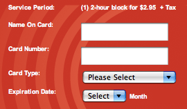 Buy a connection with a credit card